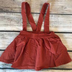 Other - Brand New Rust Baby Toddler Suspender Skirt 18-24M